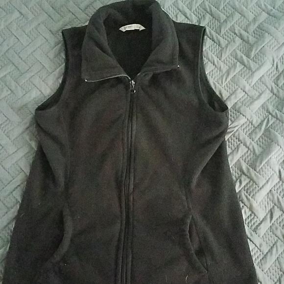 Old Navy Tops - Black Fleece vest